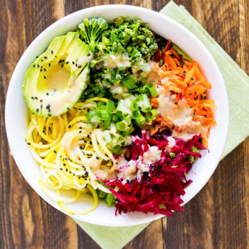 Alkalizing Noodle Bowl with Tahini Dressing