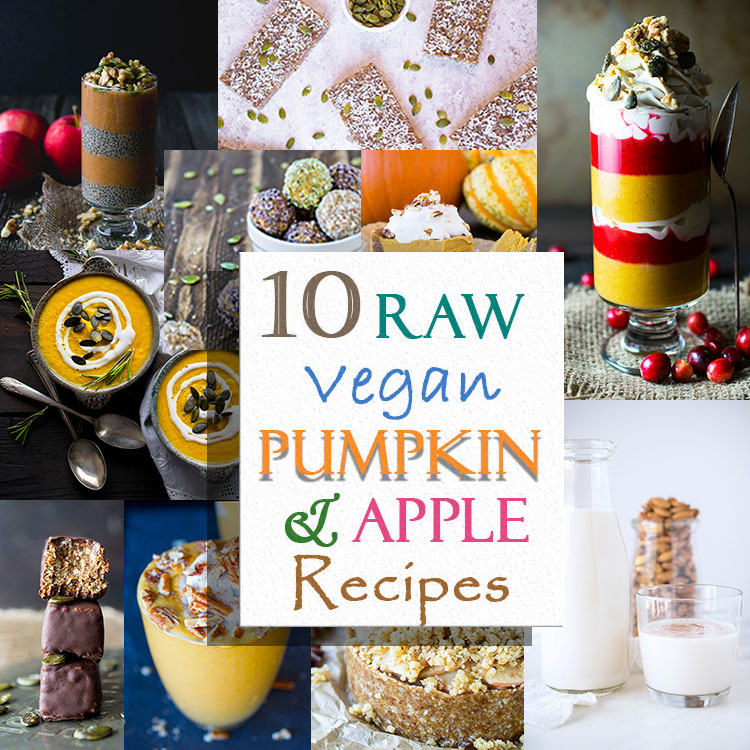 Raw vegan pumpkin and apple recipes