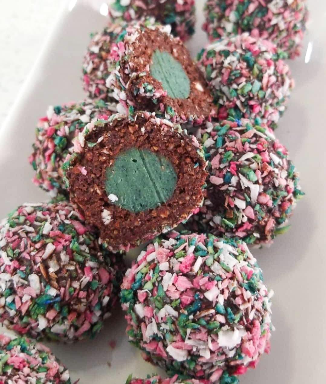 Chocolate Peppermint Cream Truffles
