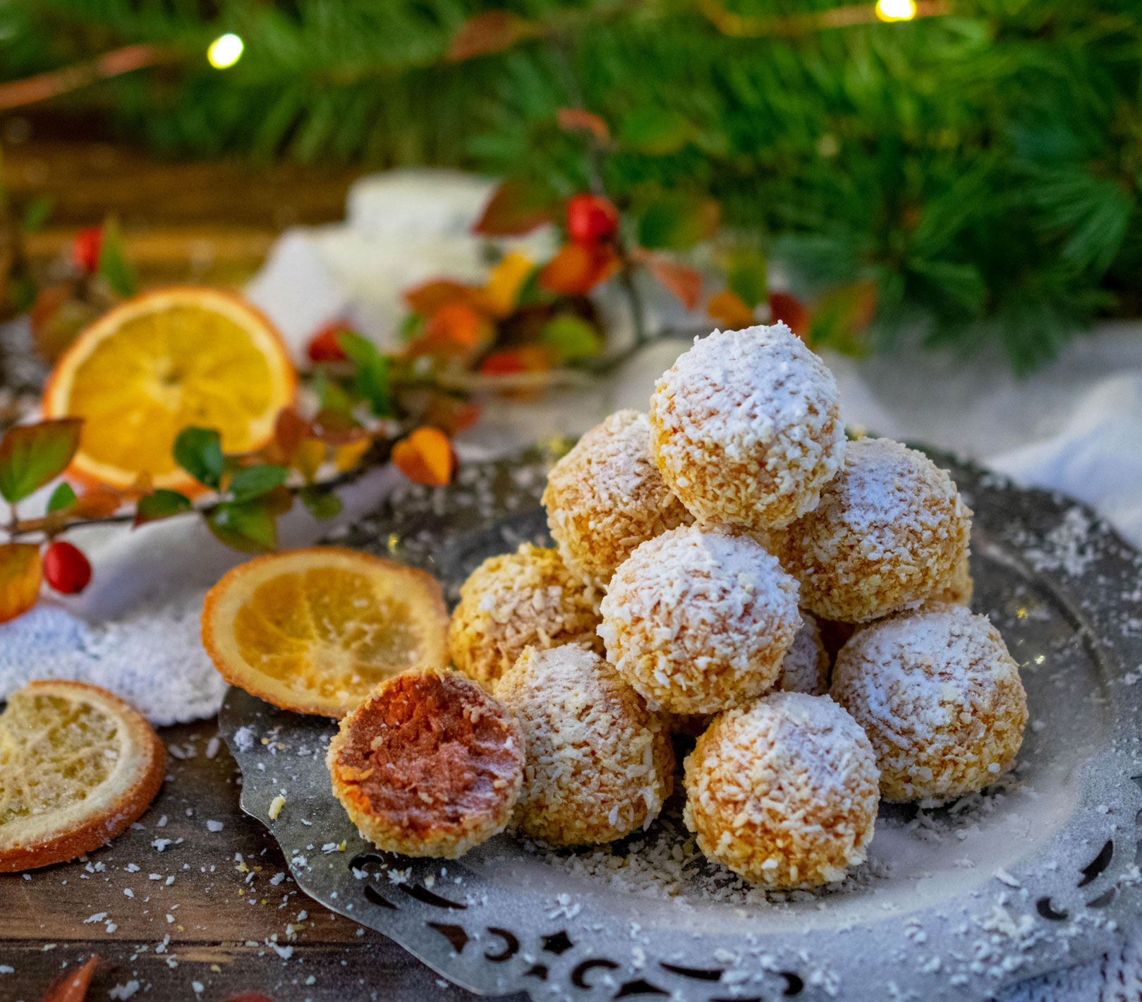 Goji Orange Coconut Delights