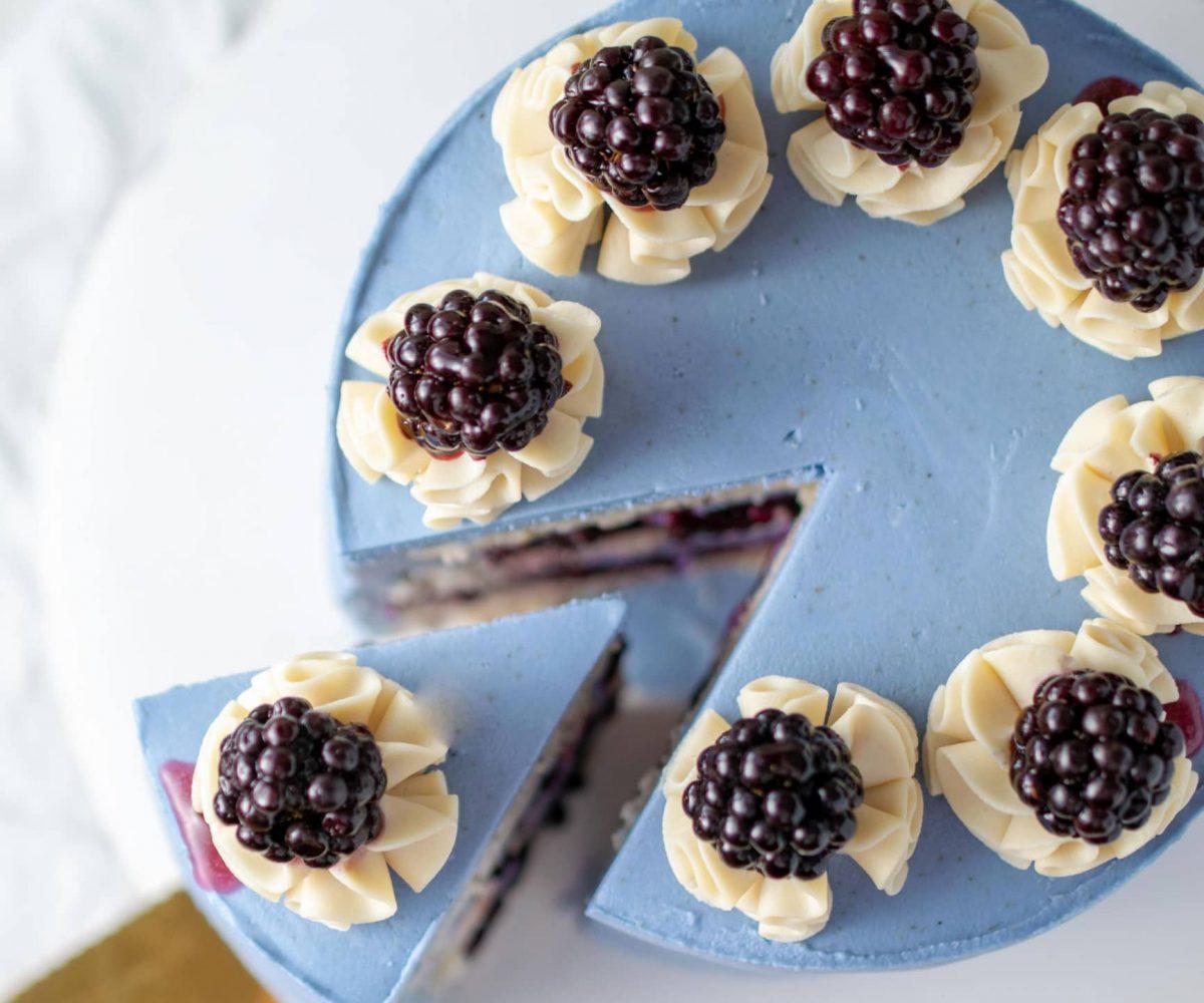 Lavender Lemon Poppyseed Cake